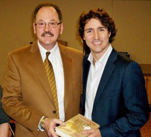 Raymond Matt pictured with Justin Trudeau, Canada's new Prime Minister